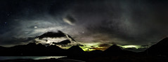 Bla Bheinn Moonset with added Aurora (amcgdesigns) Tags: sky panorama skye night clouds photoshop dark stars nighttime aurora moonlight drama skyatnight northernlights blabheinn torrin lochslapin merrydancers cloudsstormssunsetssunrises photoshopcs6 andrewmcgavin
