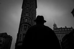 (Damien Sass) Tags: camera shadow people urban blackandwhite bw usa man monochrome silhouette contrast america manhattan 28mm streetphotography 5thavenue americans bigapple ricohgr flatiron beenthere