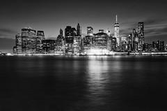 Glow - New-York (__Bentom Wyemji__) Tags: blackandwhite newyork night landscape manhattan bnw skycraper