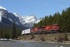CP 402-15, CP 8734 East (Nomar Tyson-Rales) Tags: lake train sub trains louise alberta cp curve 402 laggan 8734 es44ac morants