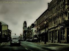 Into the Darkened Past (13skies) Tags: street windows buildings downtown darkness traffic sony slide slider brantford topaz on hss darkseries cvars happyslidersunday 13skies