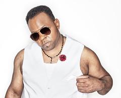 Lannie singer in Vegas (www.DarrellCraigHarris.com) Tags: light portrait music man black canon stock singer getty rap ringflash prine