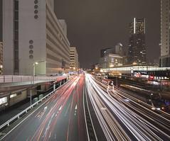 Sakuragi-cho (spiraldelight) Tags: traffic trails yokohama minatomirai   eos5dmkii tse17mmf4l