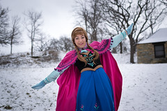 Anna at the Falls -12 (YGKphoto) Tags: park winter anna snow cold minnesota frozen costume cosplay outdoor minneapolis disney minnehaha