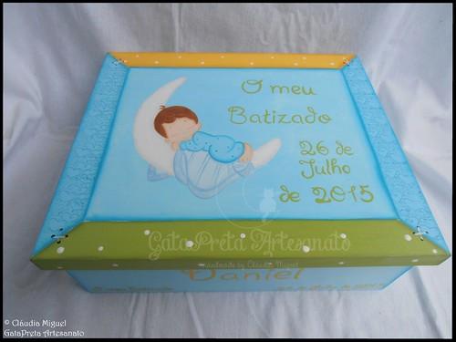 """Caixa grande de batizado """"Baby Sleep"""""""