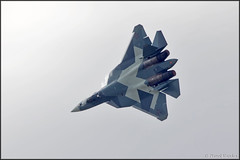 Sukhoi T-50 (Pavel Vanka) Tags: plane airplane fly flying fighter russia moscow jet spot airshow planes stealth spotting fifth maks sukhoi lii t50 5thgeneration thrustvectoring ramenskoe zhukovskiy russianairforce sukhoit50