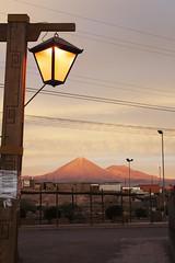 San Pedro de Atacama at sunset (sophs123.) Tags: chile street travel sunset summer sky mountains nature clouds america de landscape photography volcano san colours desert south pedro atacama latinoamerica