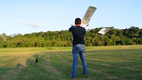 UAV launch by Sarawak Forestry