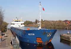 'Nestor' Latchford locks 19th April 2016 (John Eyres) Tags: metal warrington with locks seen scrap loaded arriving nestor manchestershipcanal latchford 190416