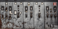 Switchboard Dreams (Wilga [notrespassing.pl]) Tags: history abandoned vintage dark ruins industrial moody darkness decay eerie creepy nostalgia forgotten urbanexploration horror nostalgic past derelict hdr highdynamicrange notrespassing urbex switchboard modernruins wilga opuszczone eksploracja zapomniane lesbobines overgivnaplatser