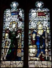 Retford - St Swithun's - Kempe Glass (Glass Angel) Tags: tower faith lion stainedglass warmemorial nottinghamshire fortitude retford kempe stswithun