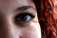 eye (pictografie) Tags: red people brown eye girl hair women menschen eyebrow eyelash braun frau makro auge haare rote wimper augenbraue istanbul15