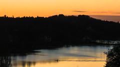 Paddling till dusk (redfurwolf) Tags: sea water europe sweden stockholm dusk sony sthlm sunsetlight canoeist brunnsviken redfurwolf