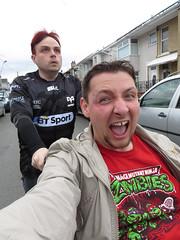 Wheelchair Fun (DJ Damien) Tags: chris wales neil myspace april2g16