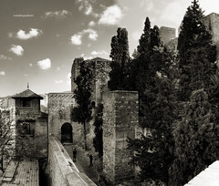 Alcazaba de Mlaga B/N (ivandiazpallares) Tags: bn mlaga alcazaba arteislmico