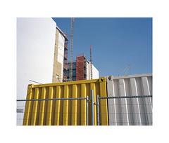 building site (ha*voc) Tags: urban 120 film amsterdam mediumformat 6x7 urbanfragments 65mm mamiya7ii urbanabstraction lomo800 industrialfragments
