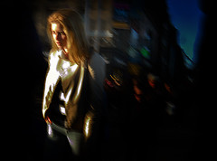 First Light (Owen J Fitzpatrick) Tags: lighting street city ireland people dublin sun blur sunshine photography j nikon republic pavement candid first social joe eire jacket blonde use only editorial lit owen unposed tamron oconnell chasing primal blown fitzpatrick primordial ojf d3100 ojfitzpatrick