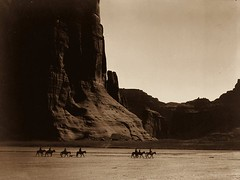 Canon de Chelly  Navajo. Seven riders on horseback and dog trek against background of canyon cliffs. E. S. Curtis, (1904) [3,6202,721] #HistoryPorn #history #retro http://ift.tt/1WqdnHo (Histolines) Tags: dog 3 history against trek canon de background s canyon cliffs retro seven e timeline navajo horseback 1904 curtis 721 riders chelly  vinatage historyporn histolines 6202 httpifttt1wqdnho