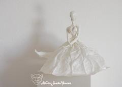 The Memory (Yureiko) Tags: sculpture art paper origami kunst skulptur papier paperfolding   papierfalten yureiko