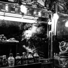 Last Pretzel. NYC, Times Square. (pmpiasecki) Tags: street nyc newyorkcity blackandwhite monochrome blackwhite streetphotography monotone ricoh ricohgr bnw ricohgr2