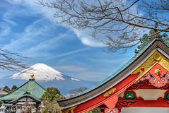 Mount Fuji (kcchoy60) Tags: sky japan temple mountfuji sakura 2014