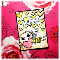 Share love (Stampinkie) Tags: atc artisttradingcard agatha rubberstamping distressink stampotique