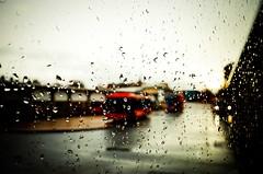 Gateshead Town (35mm disjointed) Tags: bus film window wet water field rain stand droplets drops focus dof metro like dry gateshead stop organic shallow raining vignette depth interchange gatesheadtownurban