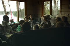 Houseparty (@jakeolivermoss) Tags: people lake digital canon fun candid group cottage 60d