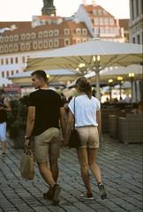 Happy couple (ercastrob) Tags: dresden couple bokeh altstadt nikonfa agfactprecisa100 canoscan8800f bokehoftheday itsnotacapture
