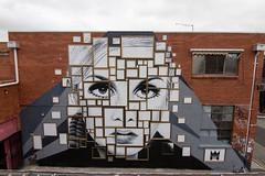 200+ Frames Were Used In The Making Of This Twiggy Mural That We Painted (jh.siesta) Tags: this frames mural painted used 200 making twiggy were