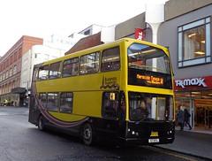 E17BTS Blackpool Transport 350 on Bank Hey Street, Blackpool (j.a.sanderson) Tags: bus buses east 350 dennis blackpool trident lancs lolyne e17bts