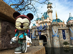 Hipster Mickey Vinylmation (Jerrod Maruyama) Tags: disneyland waltdisneyworld downtowndisney jerrodmaruyama wondergroundgallery hipstermickey disneysprings