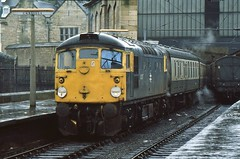 26037 AWAITS DEPARTURE FROM CARLISLE ON 29 DECEMBER 1984 WITH THE 1240 TO GLASGOW CENTRAL (47413PART2) Tags: 26037