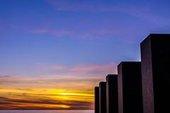 setting west (kaimonster) Tags: california beach memorial santamonica