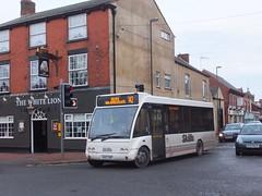 Skills MX07BBZ Ripley (Guy Arab UF) Tags: white bus buses derbyshire lion skills ripley independent solo roberts mcewens optare bakerbus m780se mx07bbz