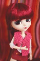 Stripes (Dragonella~) Tags: red nikon doll stripes redhead hood groove pullip bloody miyuki brh obitsu rewigged d5100 pullipobitsu bloodyredhood pullipbloodyredhood dragonella