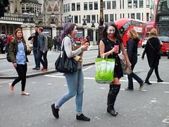 Zombie Walk - London 2015 (Waterford_Man) Tags: street boy people london girl path walk candid gore zombies zombiewalk