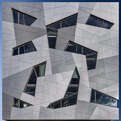 Fractured (Paul Brouns) Tags: school windows urban holland netherlands architecture facade nijmegen square roc geometry nederland angles expressive multi angled gelderland diagonals fractured