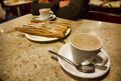 Churros and Chocolate (Kevin Machtelinckx) Tags: food breakfast canon mexico cafe mexicocity chocolate wideangle 7d elmoro churro breakfastfood