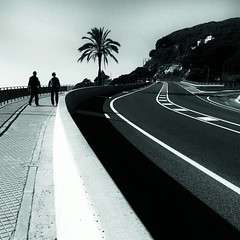 RoadS (piriskoskis.) Tags: road bw lines square couple curves palm palmtree squareformat roads maresme bnw mobileshot calella iphoneography instagramapp uploaded:by=instagram galaxys4 foursquare:venue=4fa8e377e4b0f8fbf10ef011