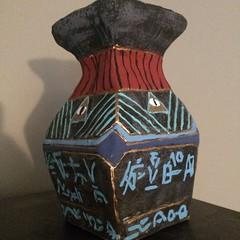 Pottery (Hurricane Wayne) Tags: flowers square ancient secret alien case pot unknown shard illuminati allseeingeye