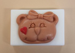 Bear with Heart $3.00 (Clelian Heights) Tags: bears soaps unscented decorativesoaps cleliansoaps