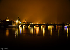Prague | Charles Bridge (C H) Tags: bridge light night river lights republic czech prague prag charles praga most photograph ukrainian vltava republika karlv eka tschechisch veer svtla esko eska