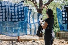 finishing up () Tags: indigo craft melbourne workshop dye dyeing shibori sonya7  sel35f28z