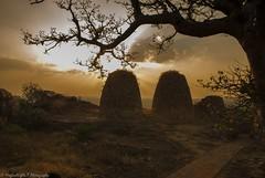When the day ends .. (magicallights) Tags: sunset india heritage yellow caves karnataka carvings badami southindia incredibleindia badamicaves
