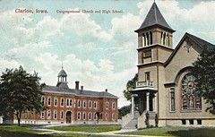 Clarion, Iowa, High School, Congregational Church (photolibrarian) Tags: highschool congregationalchurch clarioniowa