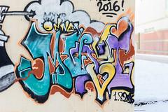 onnea-aidalta (Bergolli) Tags: street winter streetart colour art graffiti sad suburban meta style can spray be hiphop myyryork