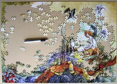 Queen of the Cats (Stephanie Pui-Mun Law) (Leonisha) Tags: puzzle unfinished jigsawpuzzle wpd