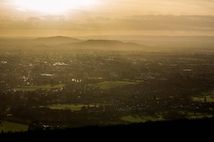 Sun Going Down - Cleeve Hill, Gloucestershire. (Jeremiah Huxley Productions) Tags: england gloucestershire cheltenham cleevehill