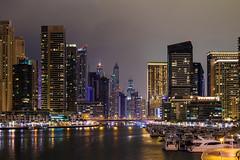 Dubai Marina (cls-70) Tags: city skyline architecture night skyscraper boats dubai cityscape skyscrapers natt stad dubaimarina arkitektur btar skyskrapa skyskrapor